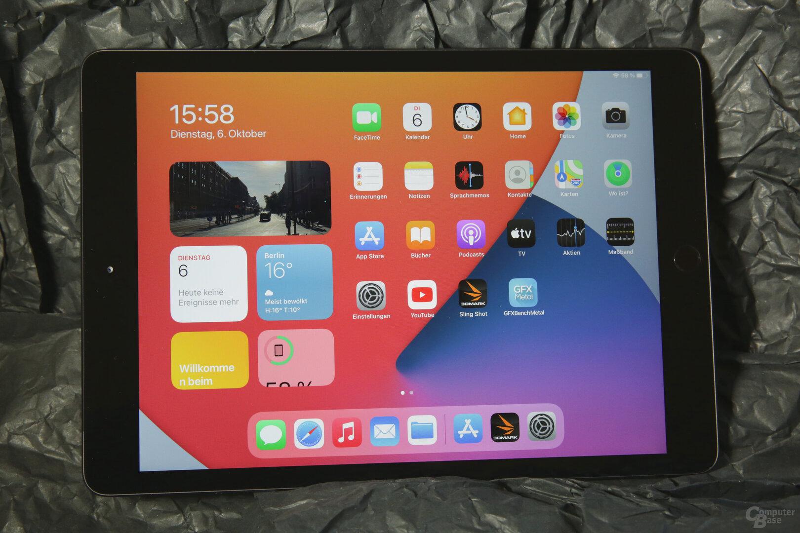 10,2Zoll großer Bildschirm ohne Sonderausstattung
