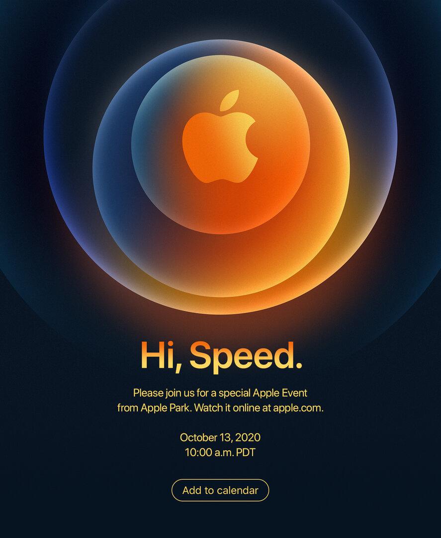 Einladung zum iPhone-12-Event am 13. Oktober