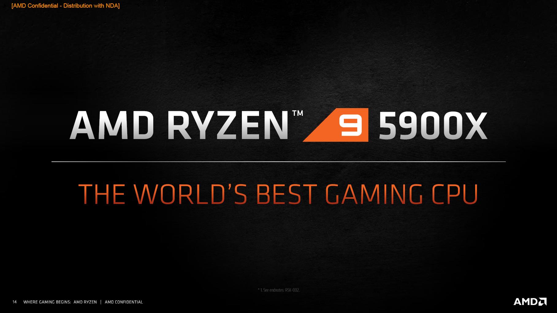 AMD Ryzen 9 5900X laut Herstelelr der weltbeste Gaming-Prozessor