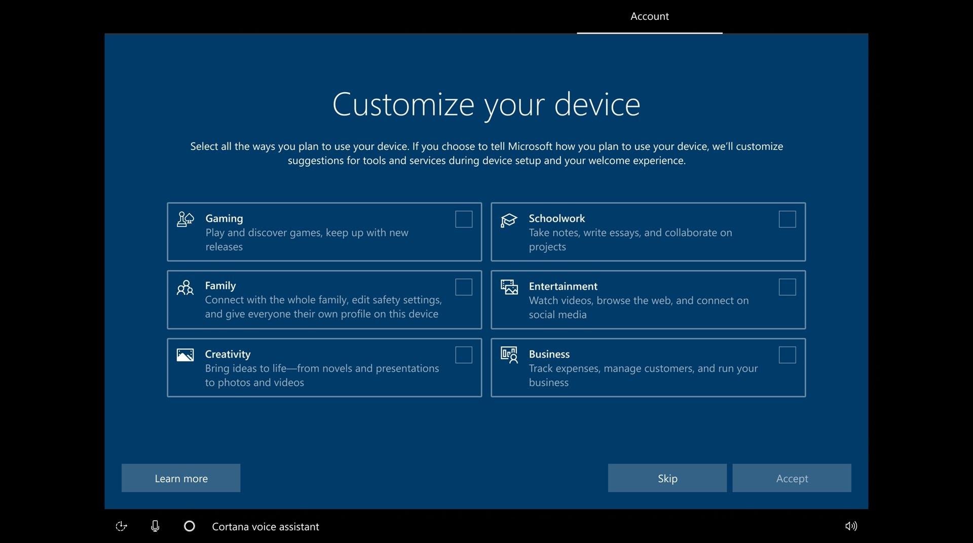 Microsoft führt einen neuen Installationsprozess für Window 10 ein (Bild:Microsoft)