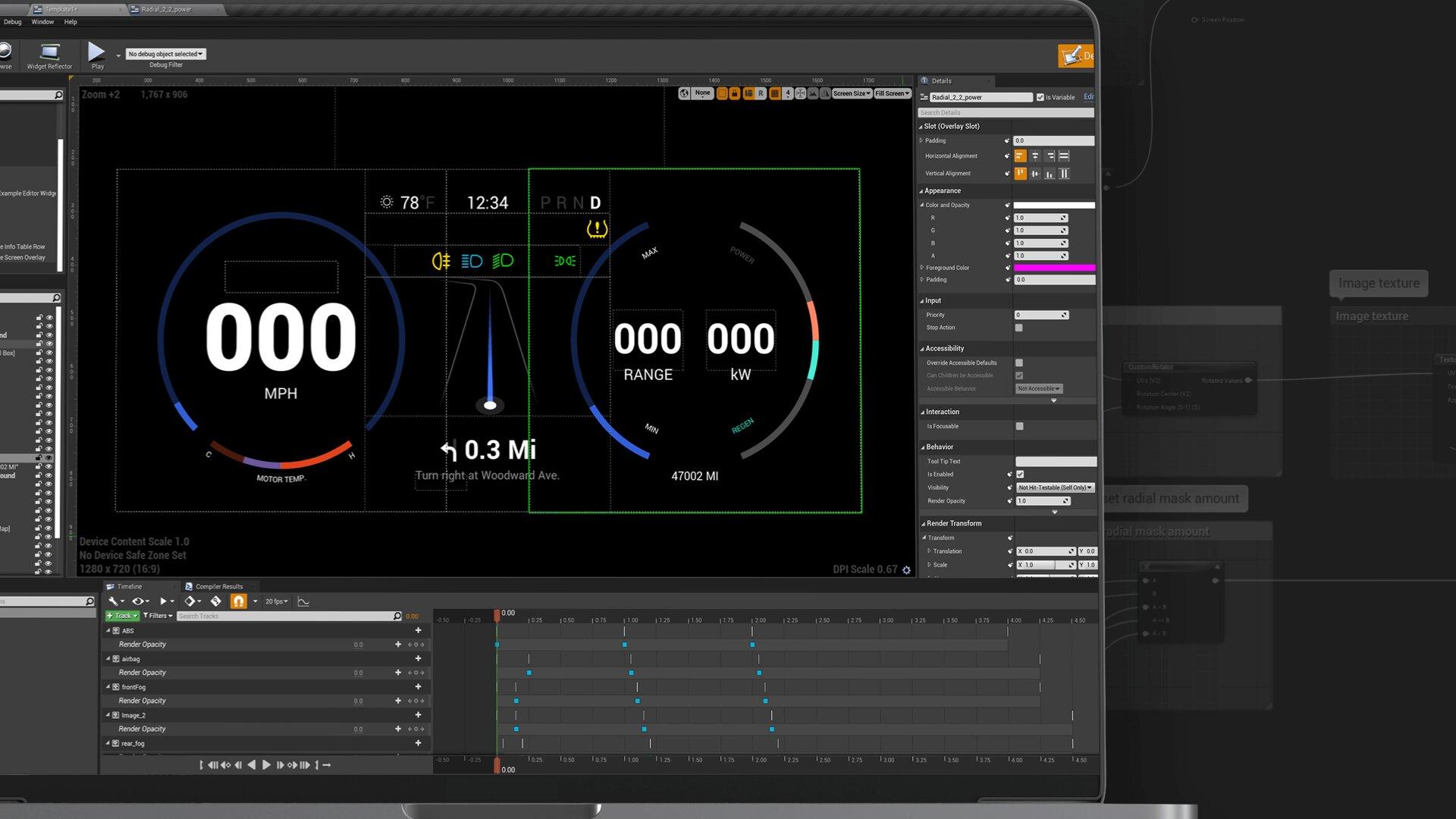 Unreal Engine im Infotainment-System von Autos