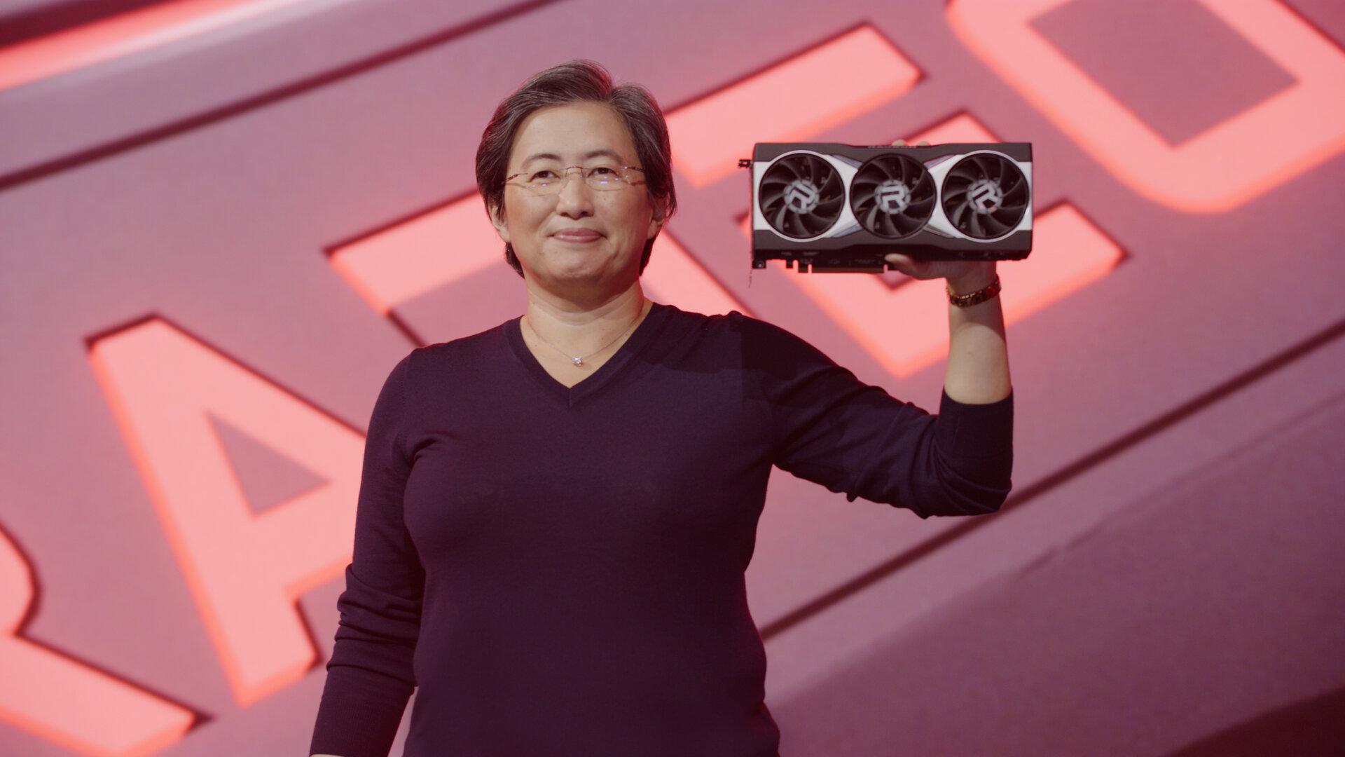 DR.  Lisa Su mit der AMD Radeon RX 6000