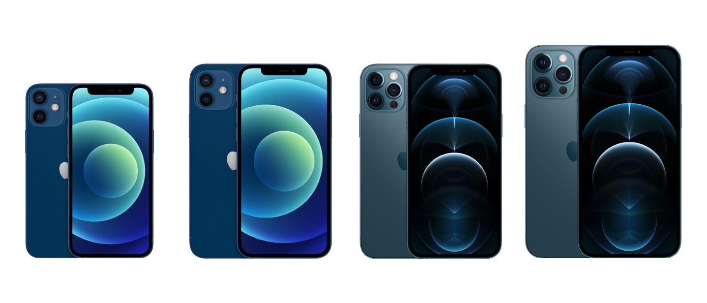 iPhone 12 mini, iPhone 12, iPhone 12 Pro, iPhone 12 Pro Max im Vergleich
