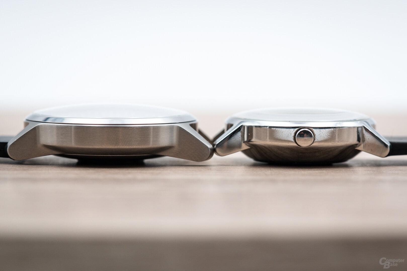 Withings ScanWatch im Test: ScanWatch (42 mm) im Vergleich zur Steel HR (36 mm)