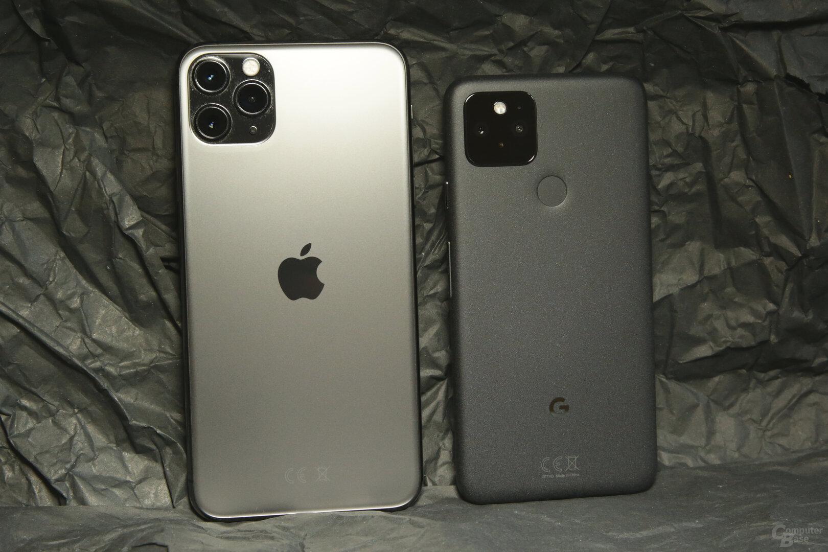 Größenvergleich mit iPhone 11 Pro Max