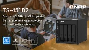 QNAP TS-451D2: HDMI-NAS als Konkurrent zur Synology DS420+