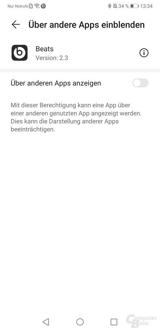 Beats-App für Android mit Powerbeats Pro
