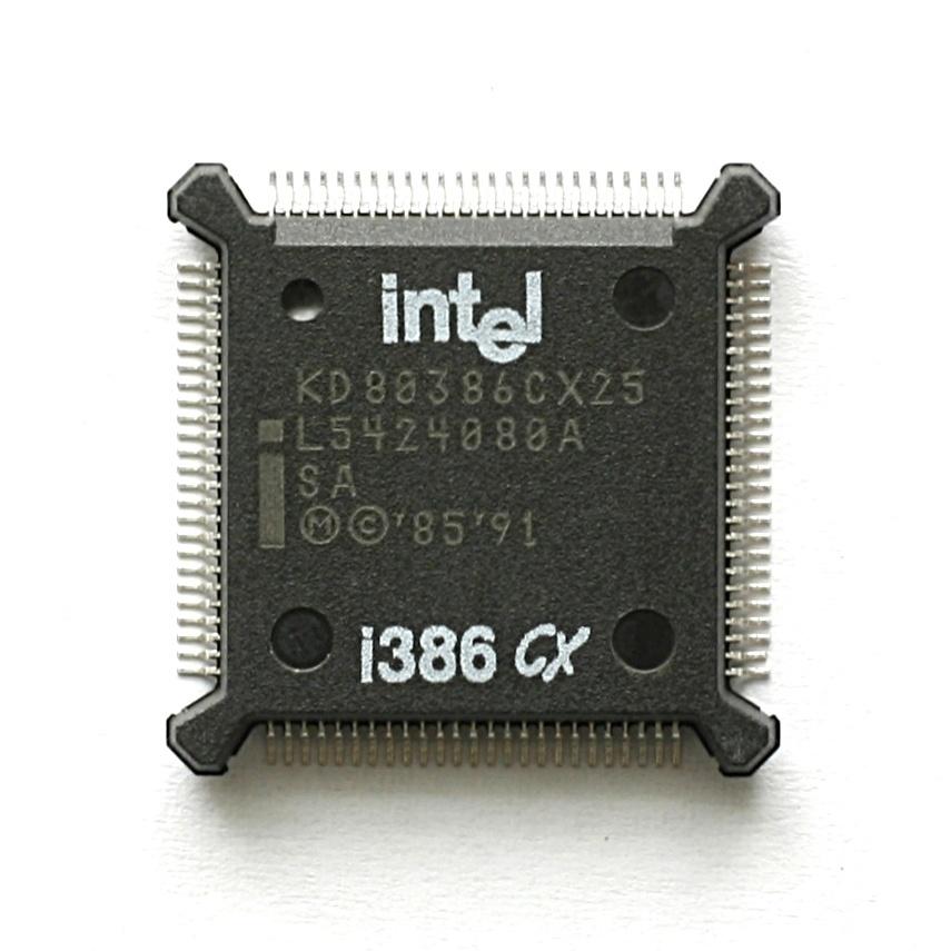 Intel i386CXSA war eine Embedded-CPU mit integrierter MMU