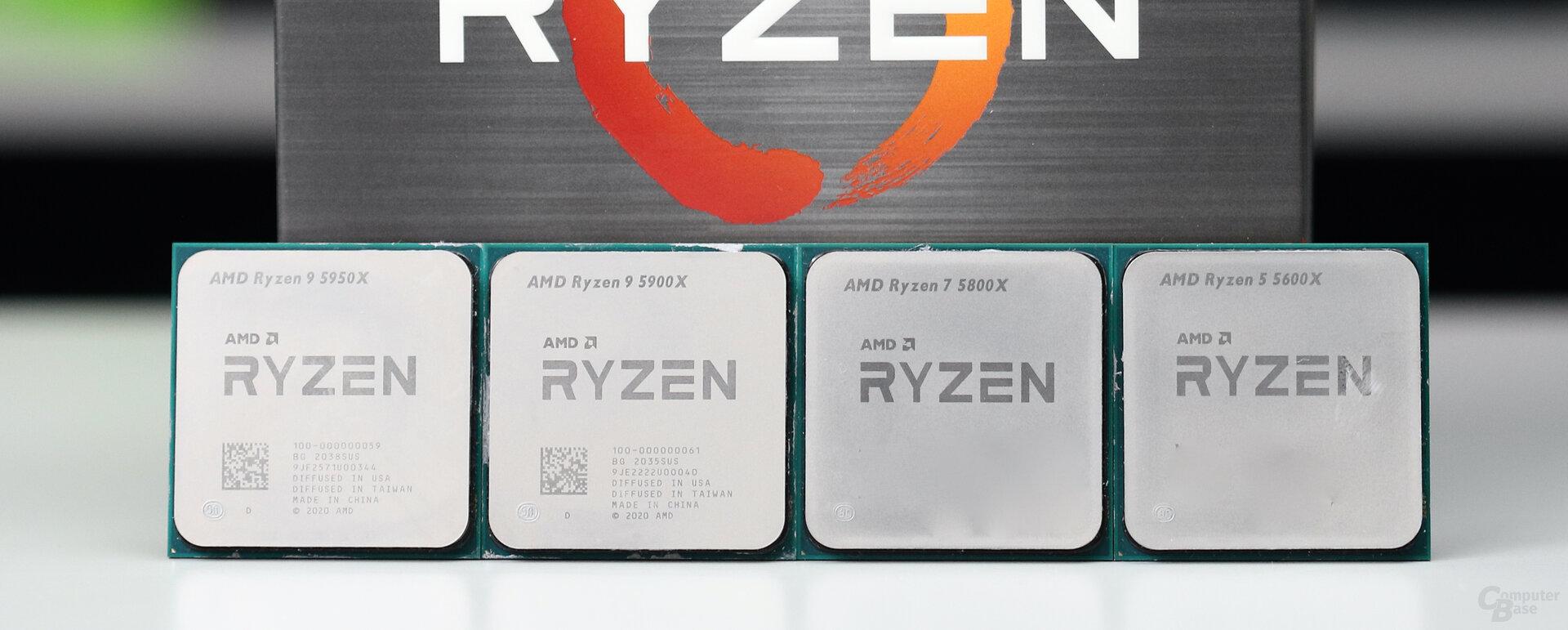 AMD Ryzen 9 5950X, 5900X, Ryzen 7 5800X und Ryzen 5 5600X im Test