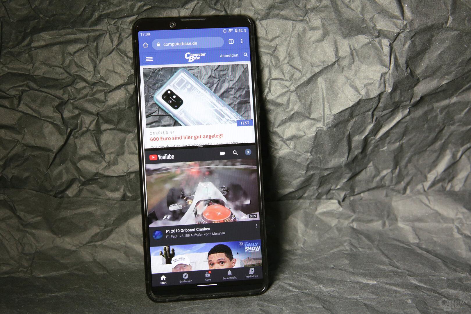 21:9-Display bietet sich für den Dual-App-Betrieb an