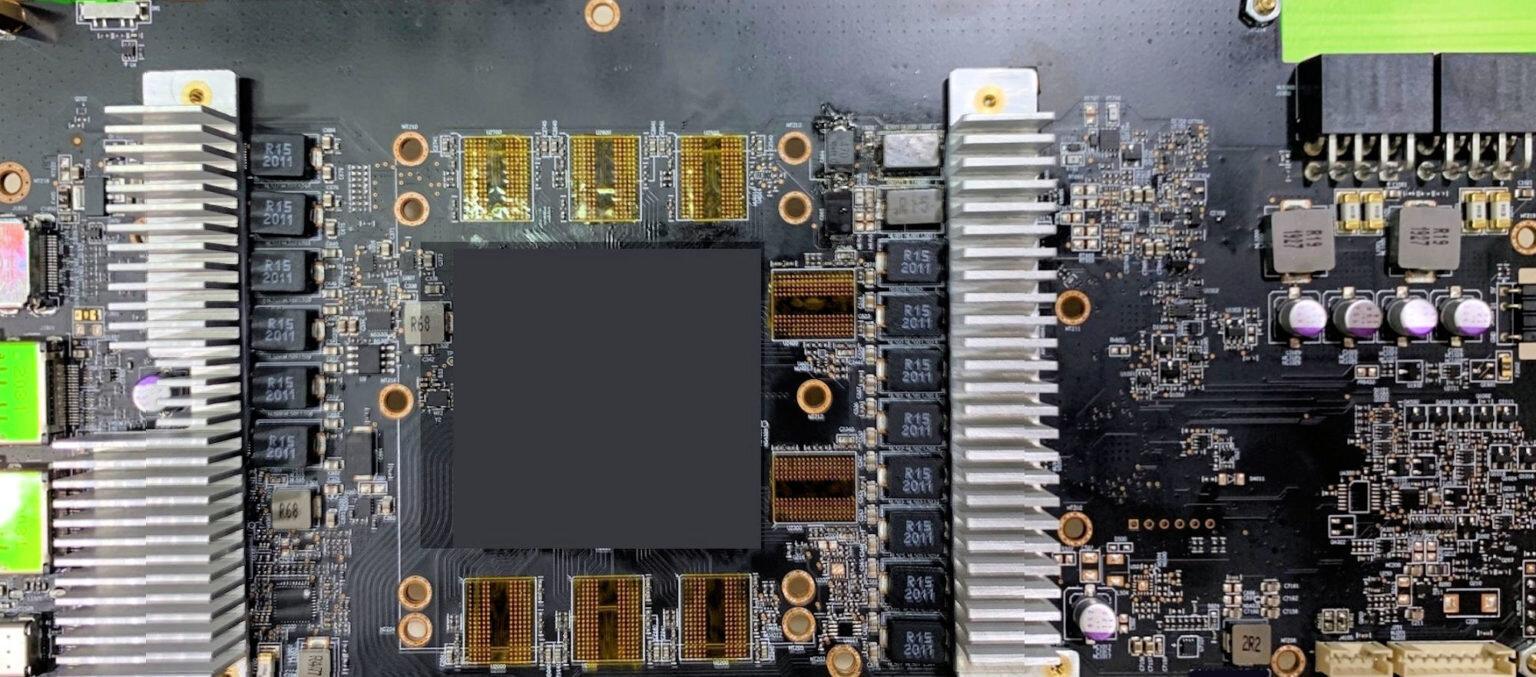 Prototyp-PCB eines Radeon RX 6000 Custom-Designs