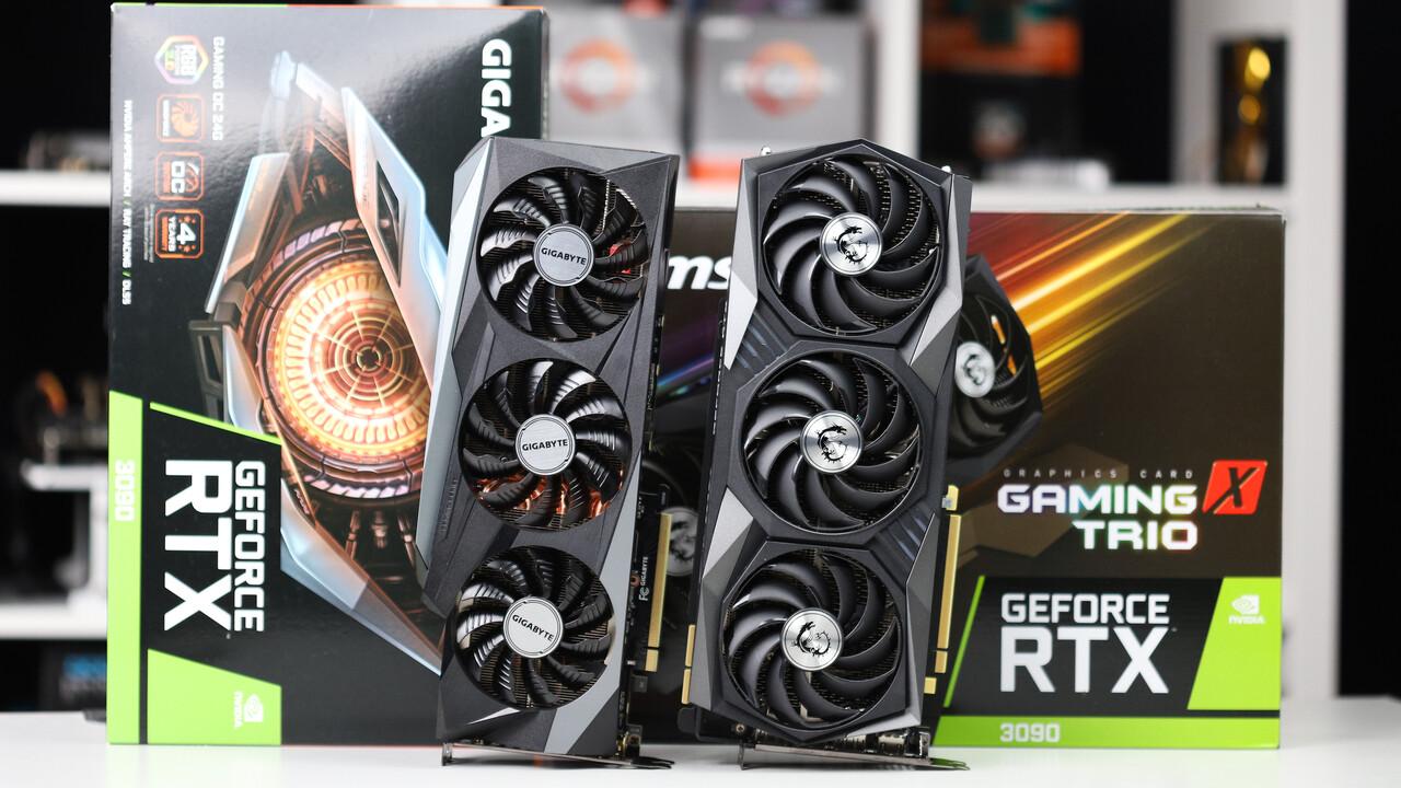 """Nvidia """"GA102-250"""": Gerücht zu Big-Navi-Konter zwischen RTX 3080 und 3090"""
