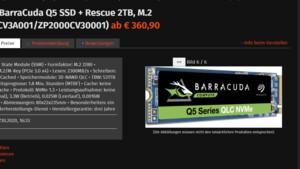 Barracuda Q5: Nächste Seagate-SSD mit QLC ist deutlich schneller