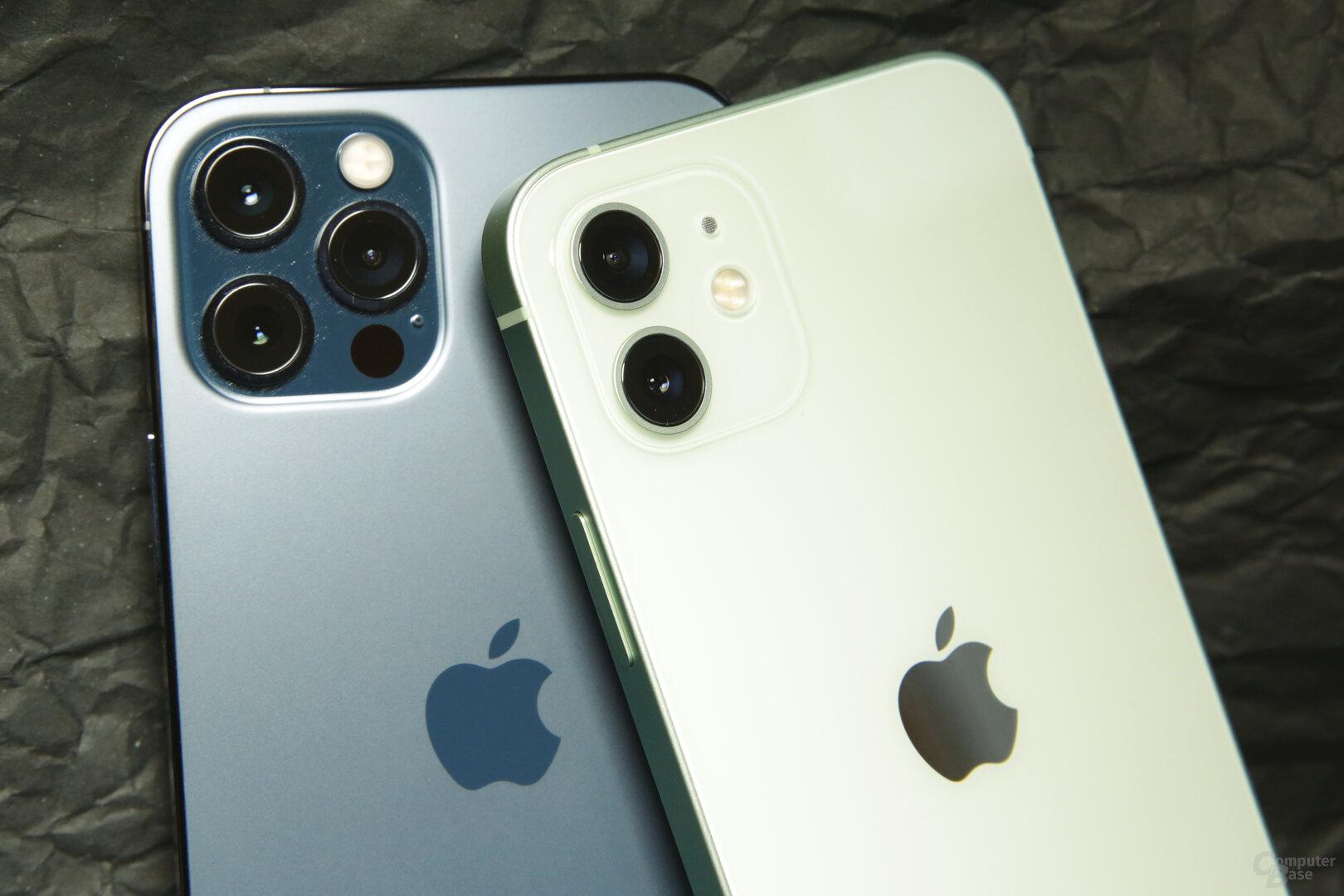 Mattes Glas beim iPhone 12 Pro, Hochlanz für das iPhone 12
