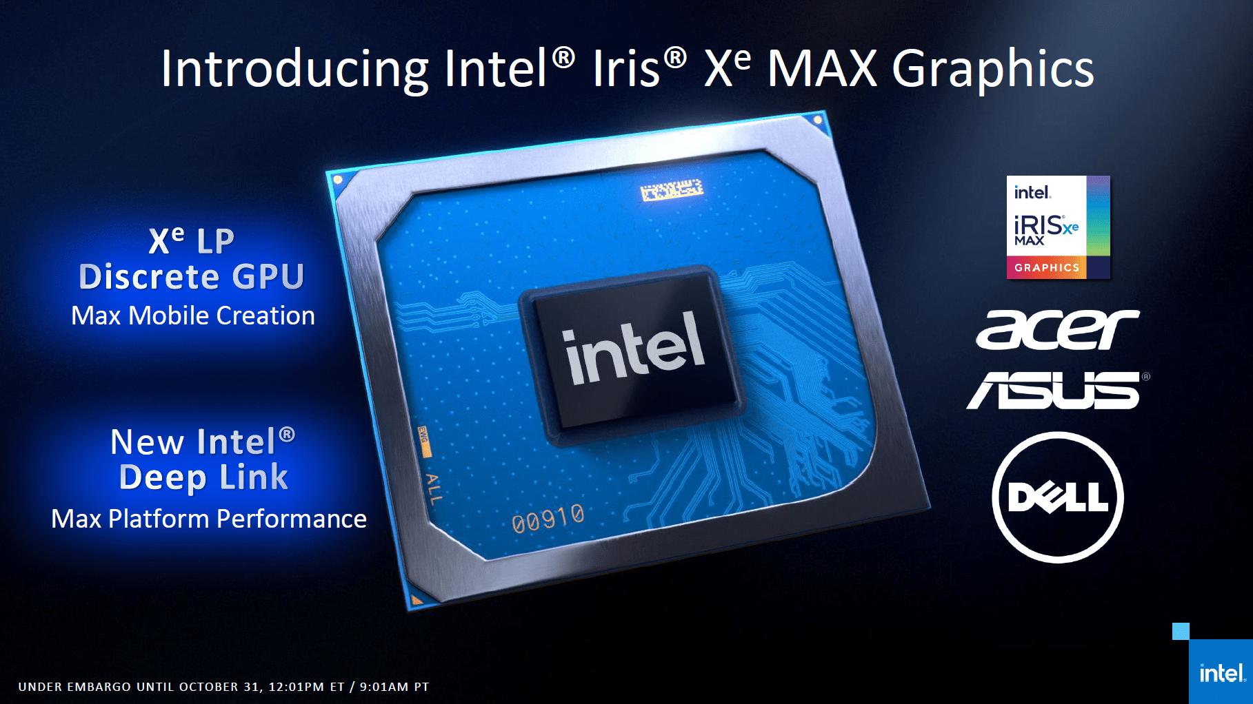 Intel DG1 alias Iris Xe Max