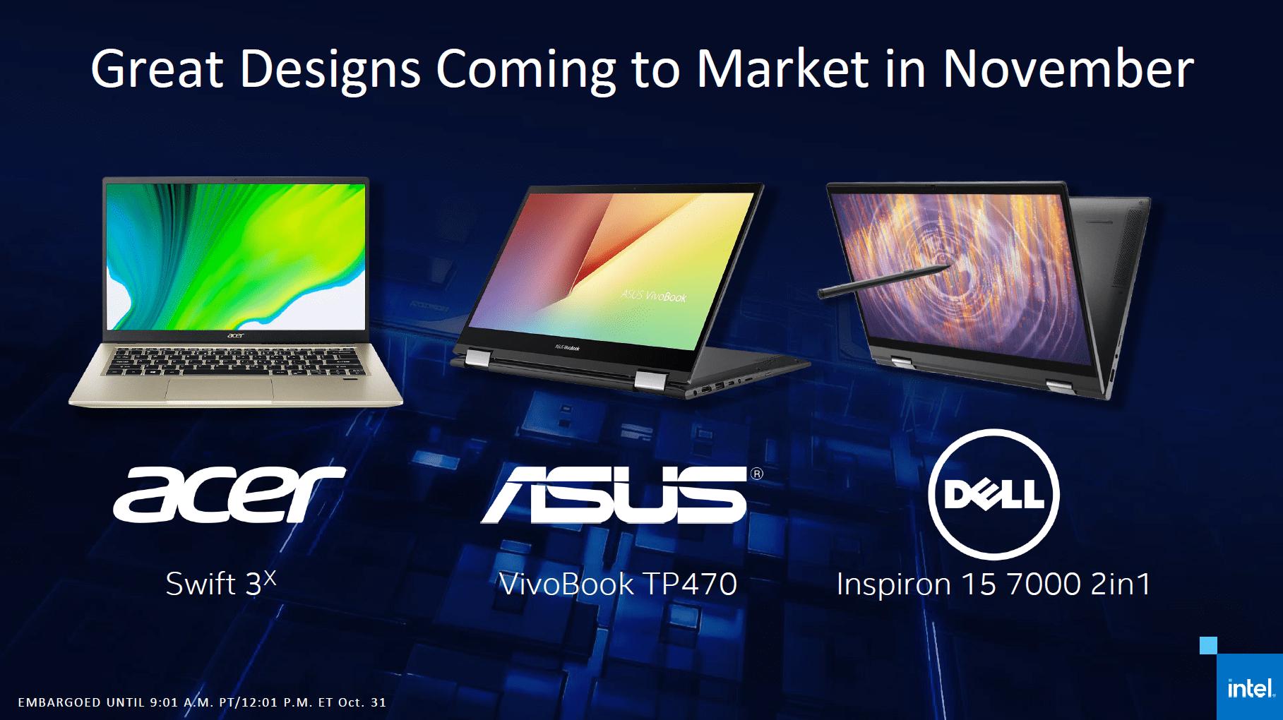 Erste Notebooks mit Intel DG1