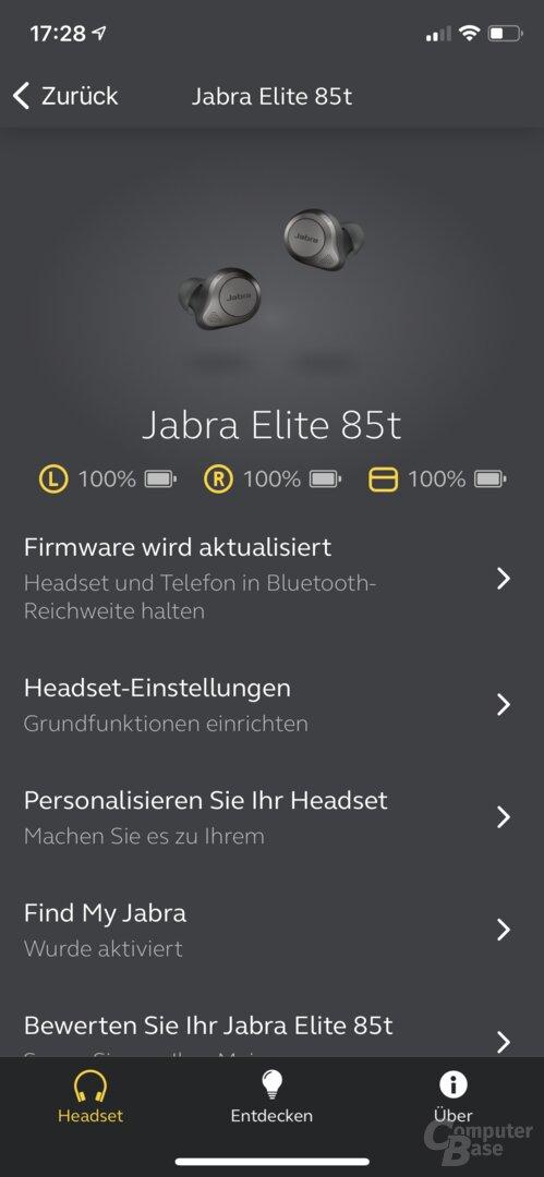 Jabra Sound+ mit Elite 85t