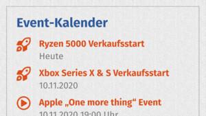 In eigener Sache: Neuer Event-Kalender auf der ComputerBase-Startseite