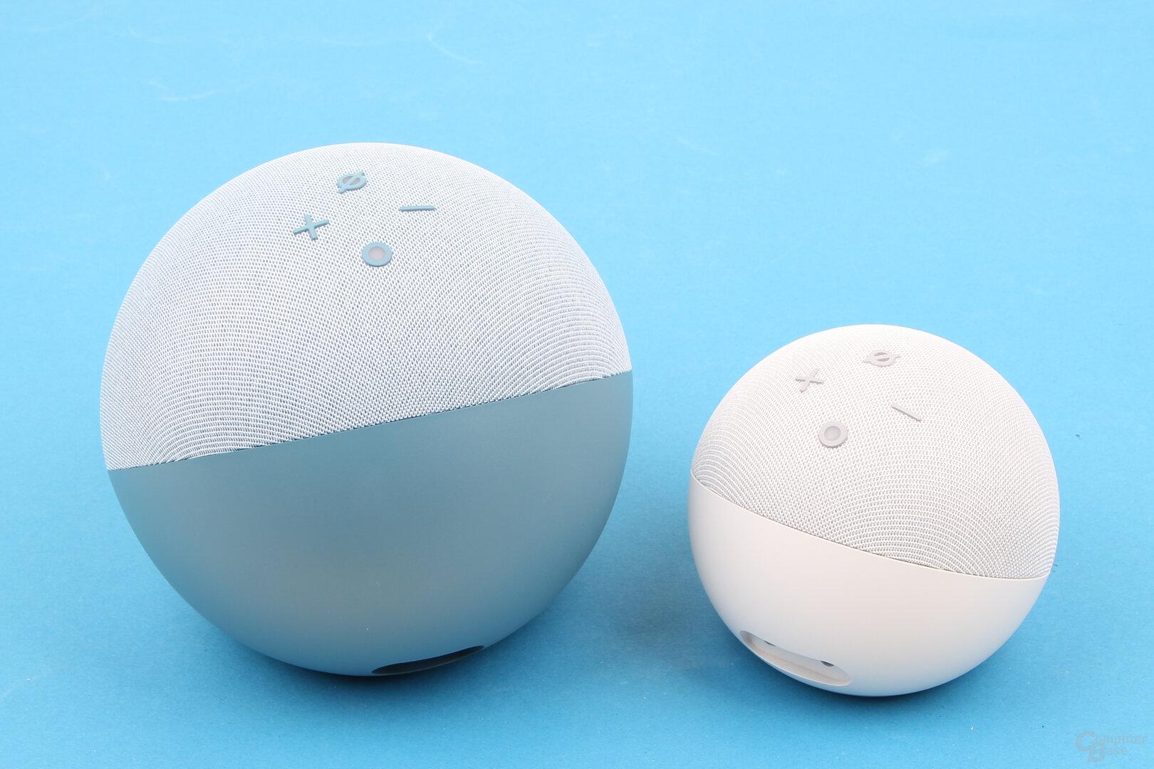 Amazon Echo (4. Gen.) und Echo Dot mit Uhr (4. Gen.)
