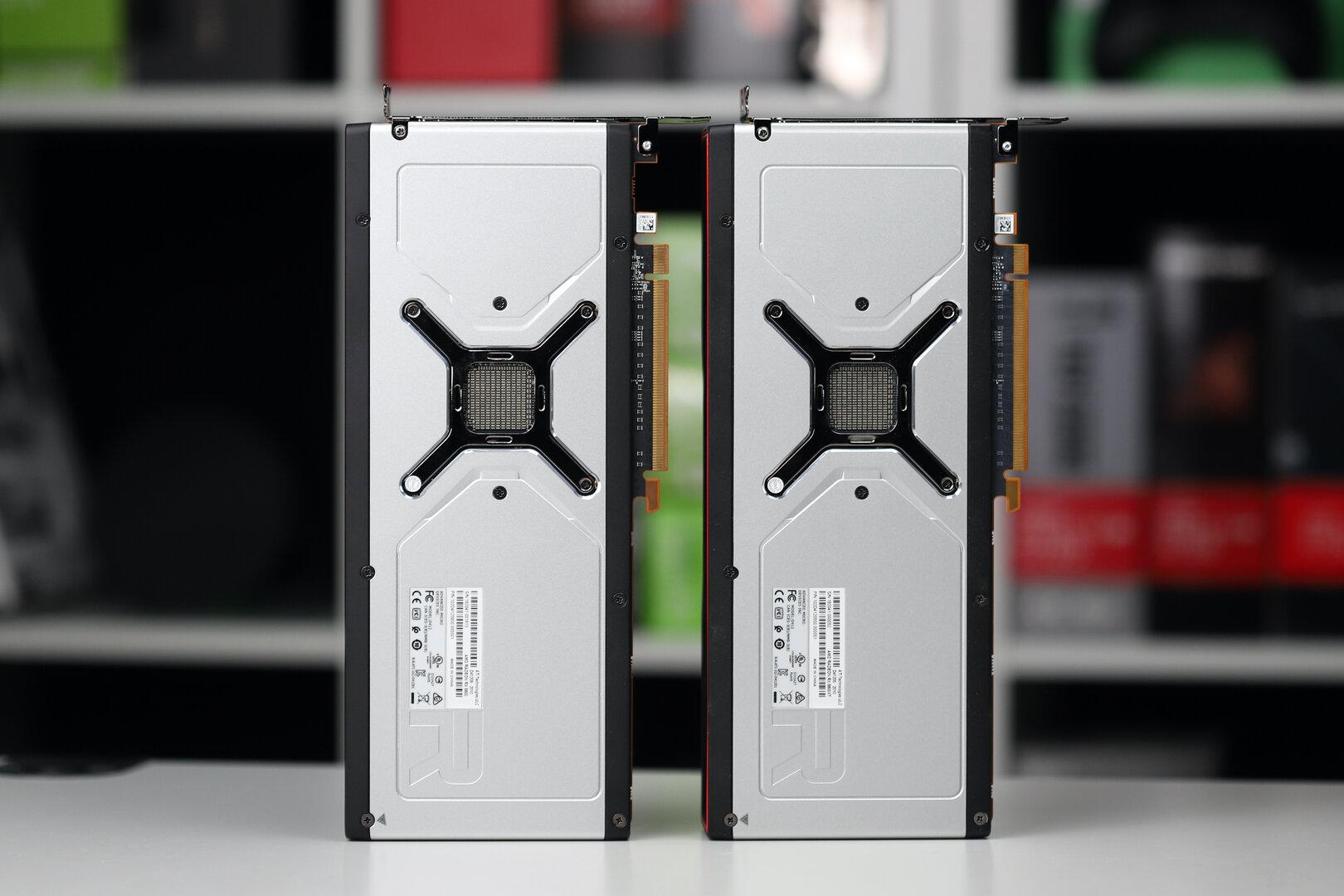 Rückseite der Radeon RX 6800 und RX 6800 XT