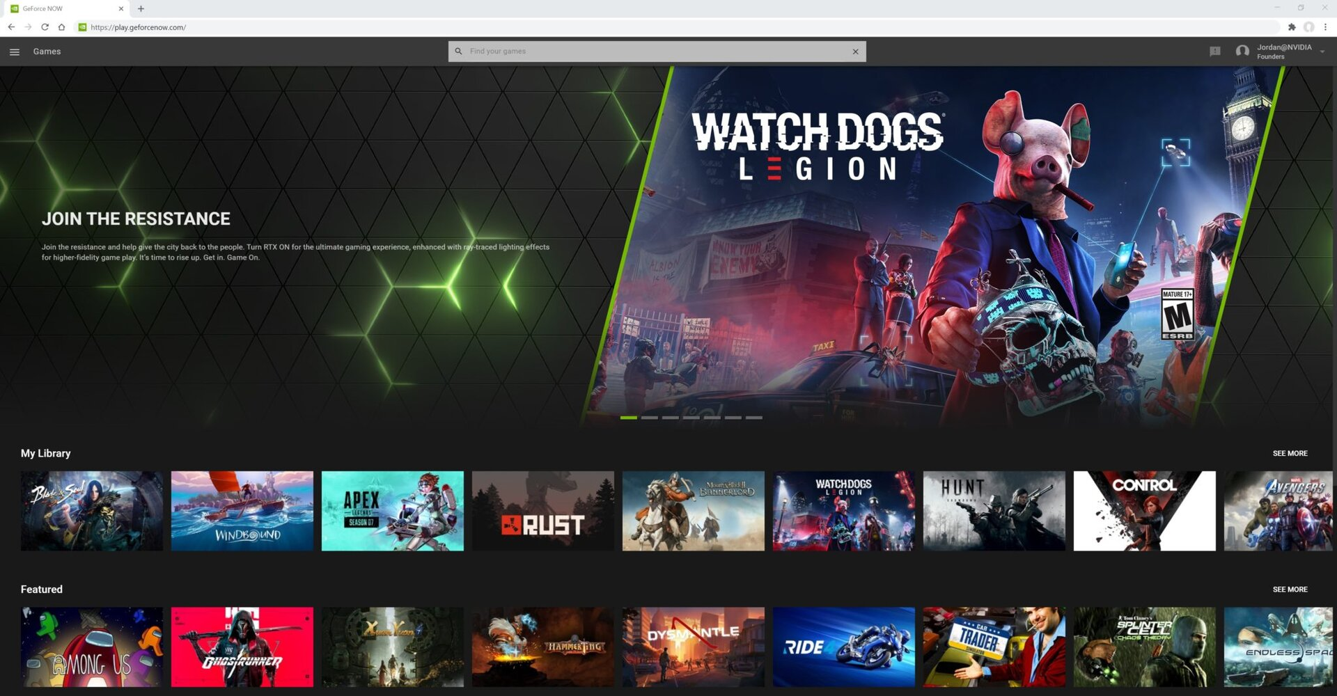 GeForce Now in Chrome