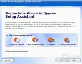Microsoft AntiSpyware Beta 1