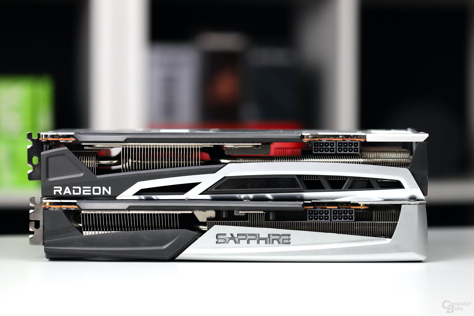 Sapphire RX 6800 XT Nitro+ (oben) und RX 5700 XT Nitro+ (unten)