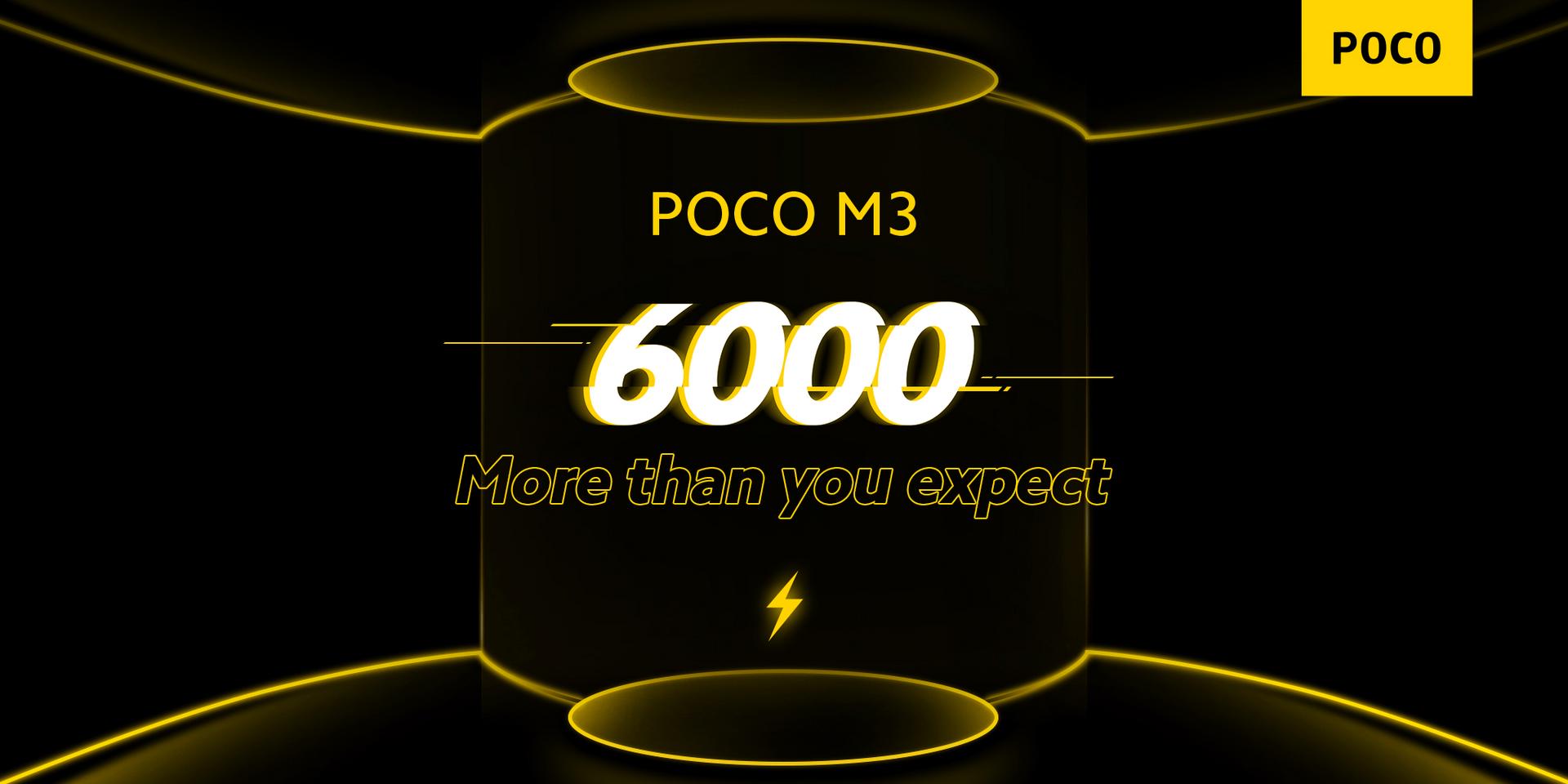 Das Poco M3 besitzt einen 6.000 mAh großen Akku
