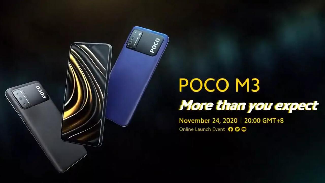 Xiaomi Poco M3: Budget-Smartphone mit Snapdragon 662 und 6,53 Zoll