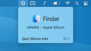 Apple M1: Silicon Info informiert über verwendete Architektur