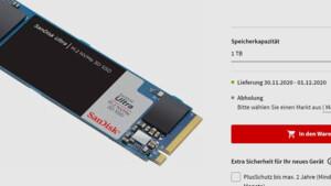 SanDisk Ultra NVMe SSD: Händler verraten den Klon der WD Blue SN550
