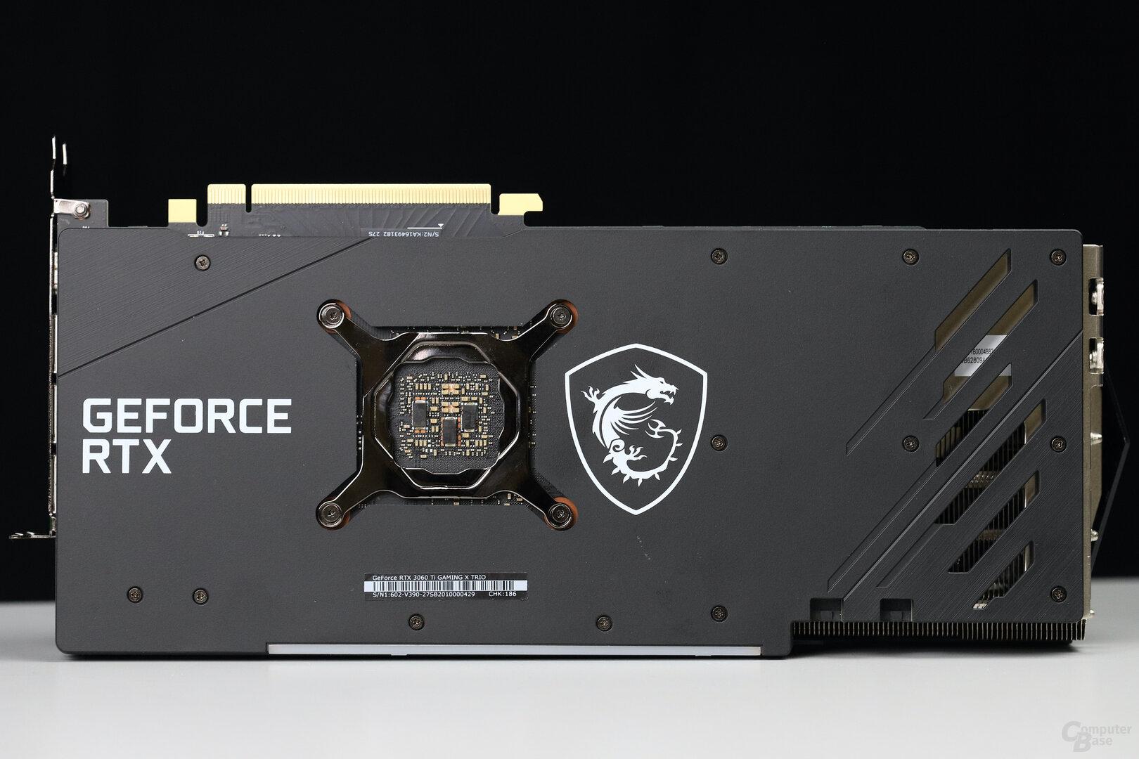 Rückseite der MSI GeForce RTX 3060 Ti Gaming X