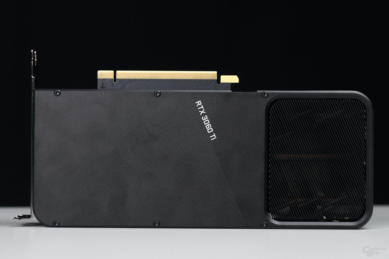 Rückseite der Nvidia GeForce RTX 3060 Ti Founders Edition