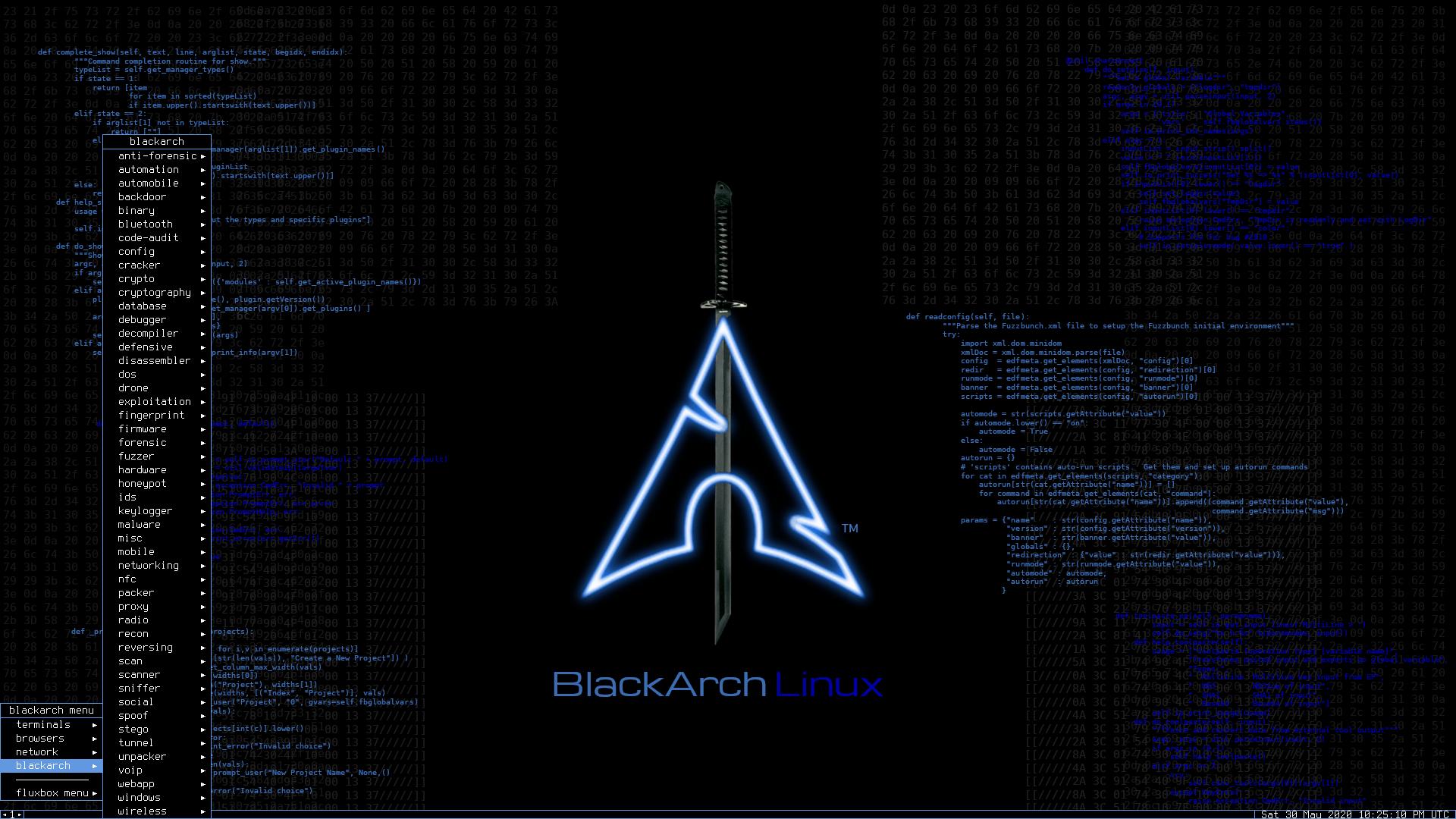 BlackArch Linux 2020.12.01 mit Fluxbox 1.3.7