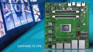 Ryzen Embedded V2000: Mini-STX- und NUC-Platine mit AMD Grey Hawk von Sapphire