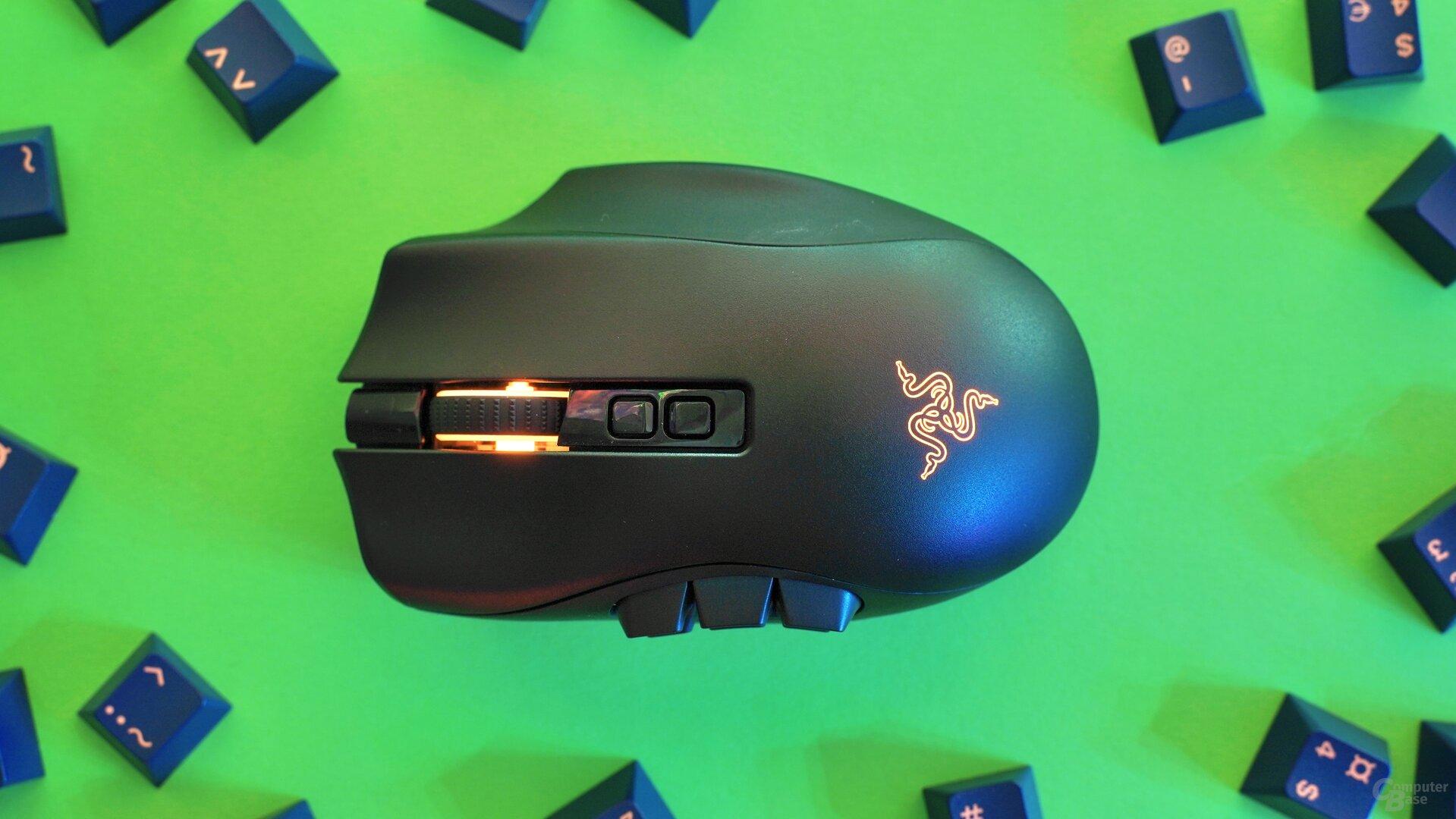 Razer Naga Pro mit 6-Tasten-Modul