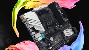µATX-Platine mit B550-Chipsatz: Beim B550M-Silver setzt Biostar auf 2,5-GbE-LAN