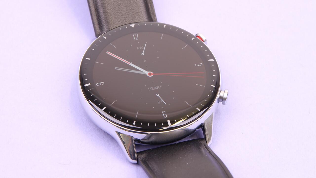 Amazfit GTR 2 im Test: OLED-Smartwatch mit Edelstahl und Leder läuft 7 Tage - ComputerBase