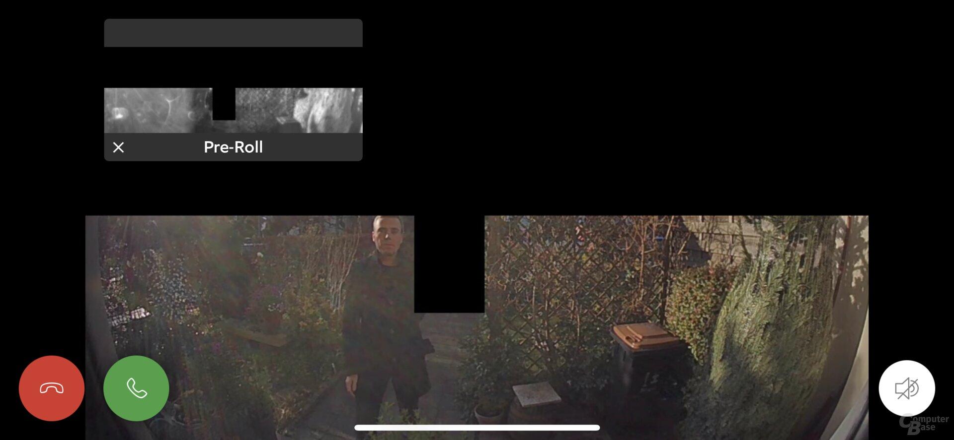 Live-Bild mit Privatsphärenbereichen