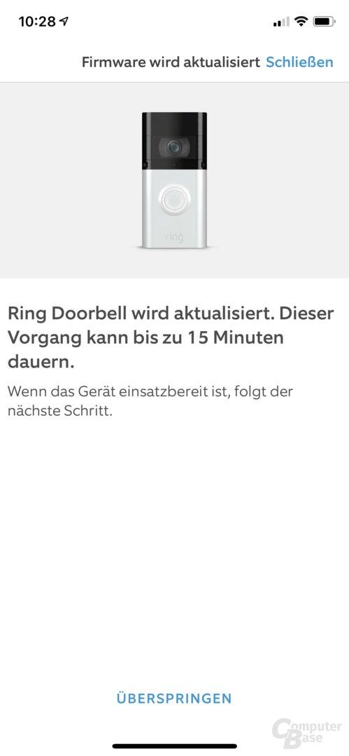 Konfiguration der Ring Video Doorbell 3 Plus