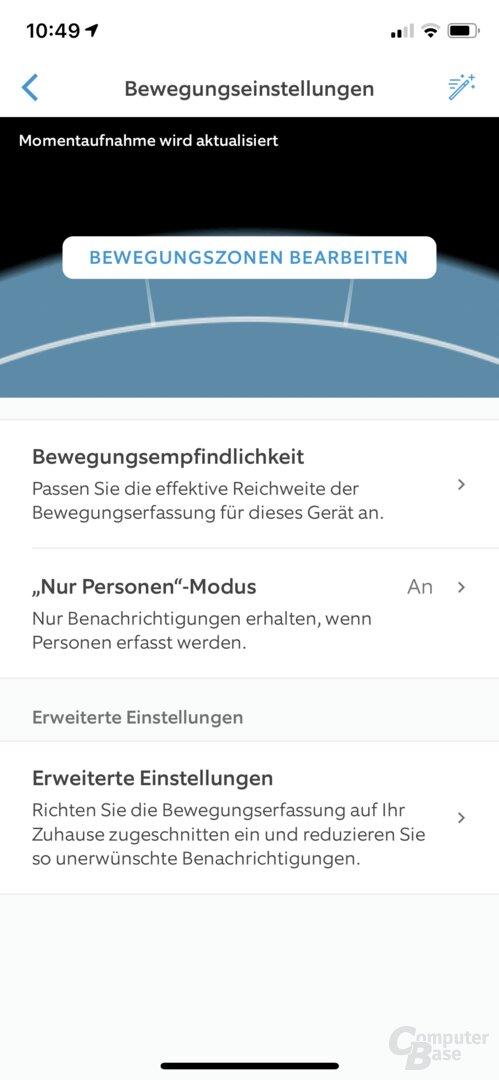 Ring-App: Bewegungseinstellungen für die Video Doorbell 3 Plus