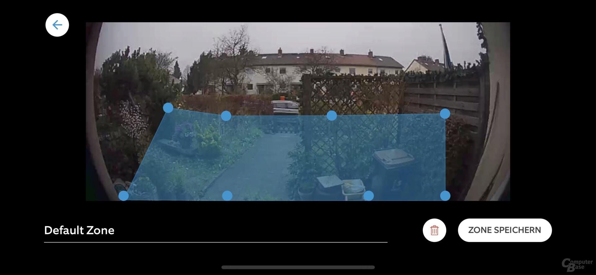 Ring-App: Bewegungszonen für die Video Doorbell 3 Plus