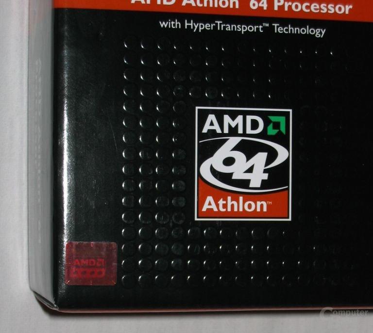 Auf einer AMD64 3200+ Verpackung aber schon ein alter Hut