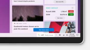 Windows 10 21H1: Die Taskleiste zeigt zukünftig Nachrichten und Interessen an