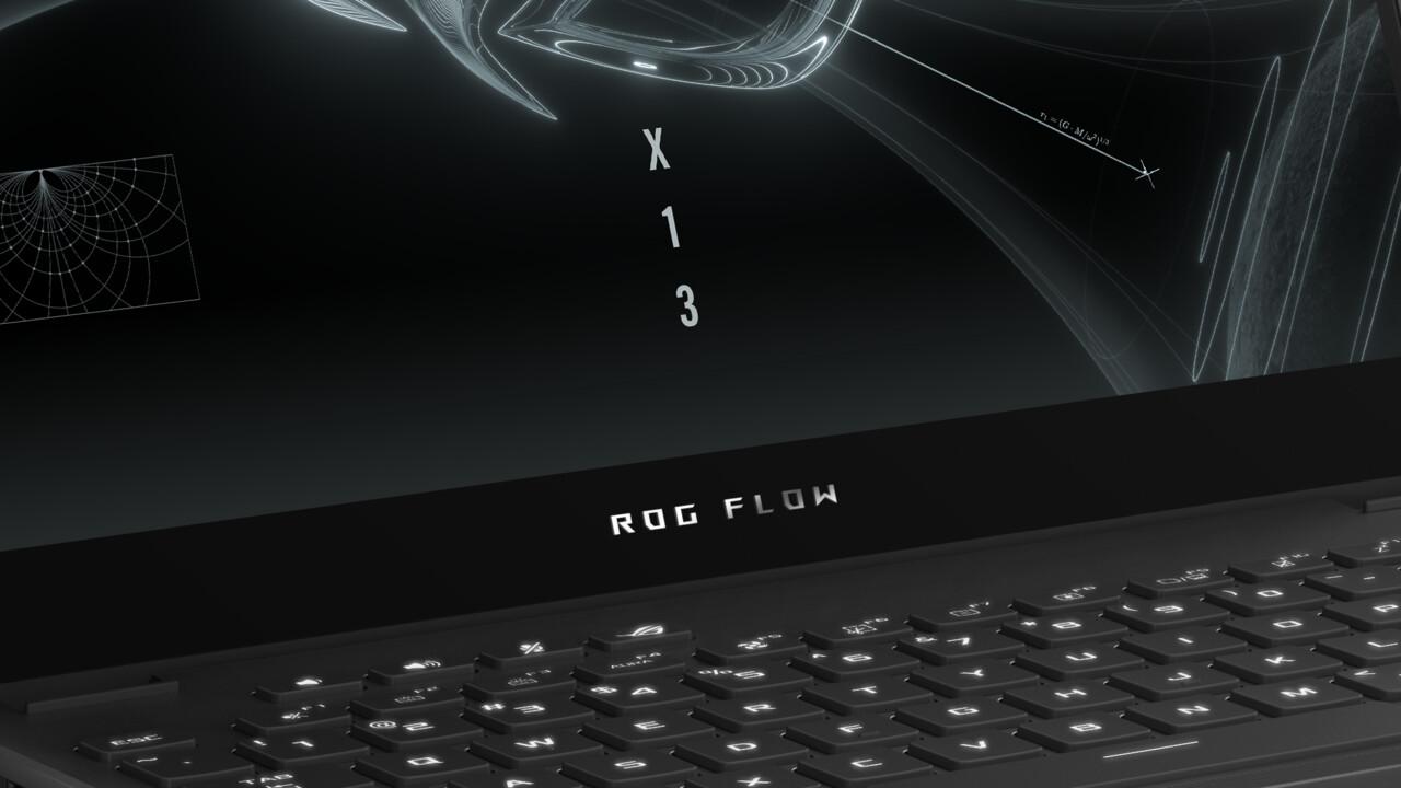 """Asus ROG Flow X13: 13""""-High-End-Laptop mit AMD Cezanne und RTX 3080 extern"""