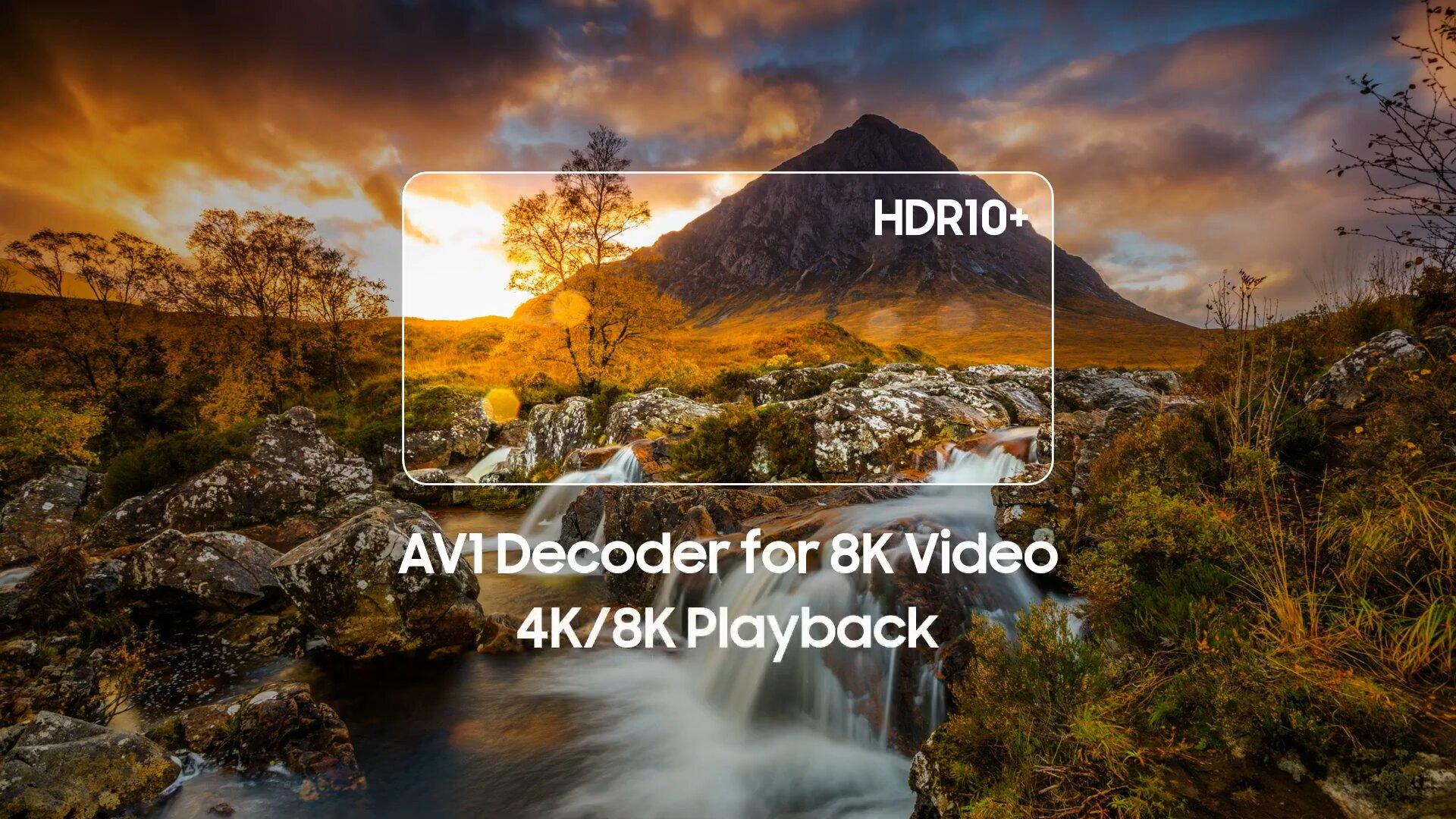Erstmals integrierter AV1-Decoder