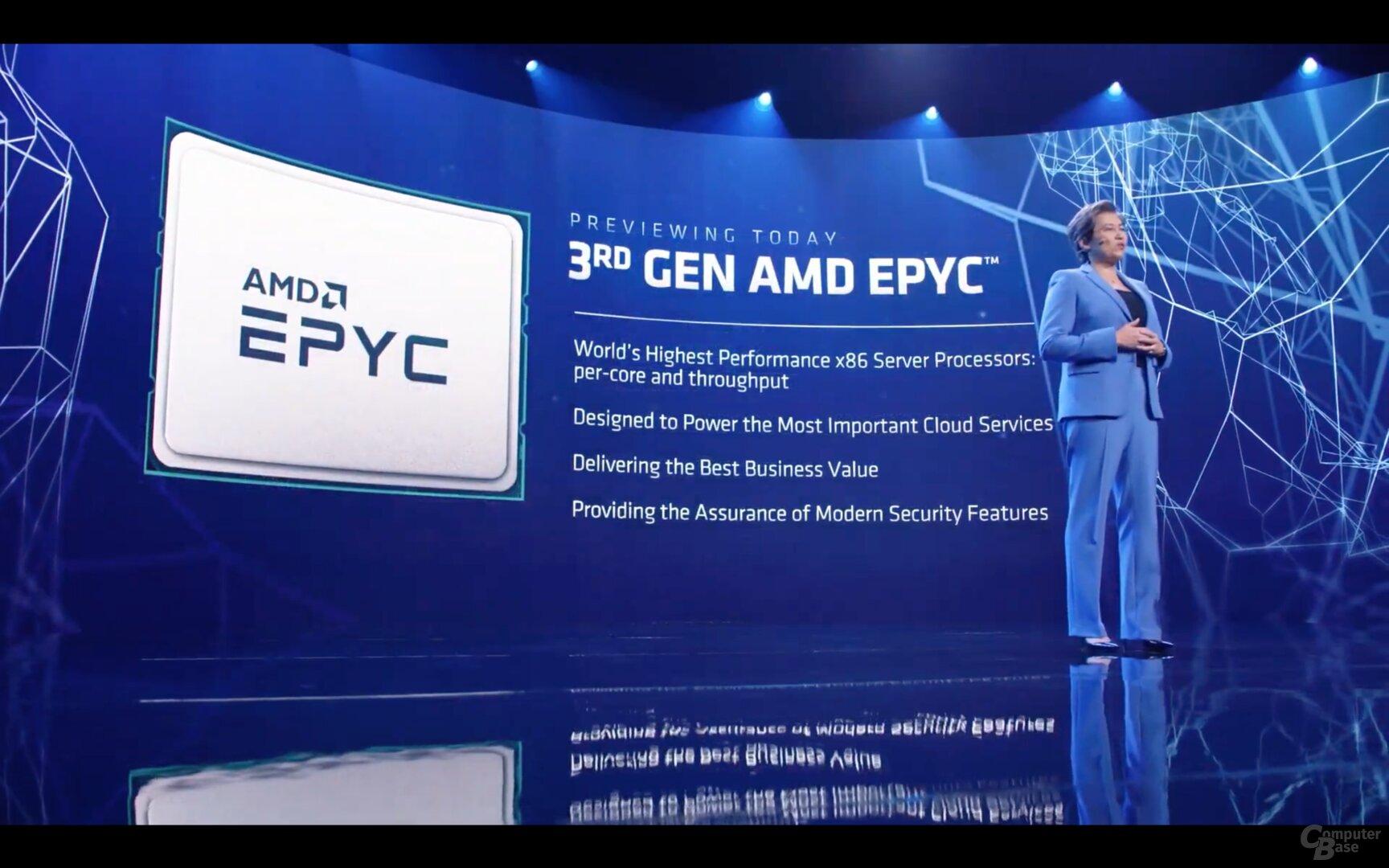 CES 2021 Demo: AMD Milan schlägt Intel Xeon