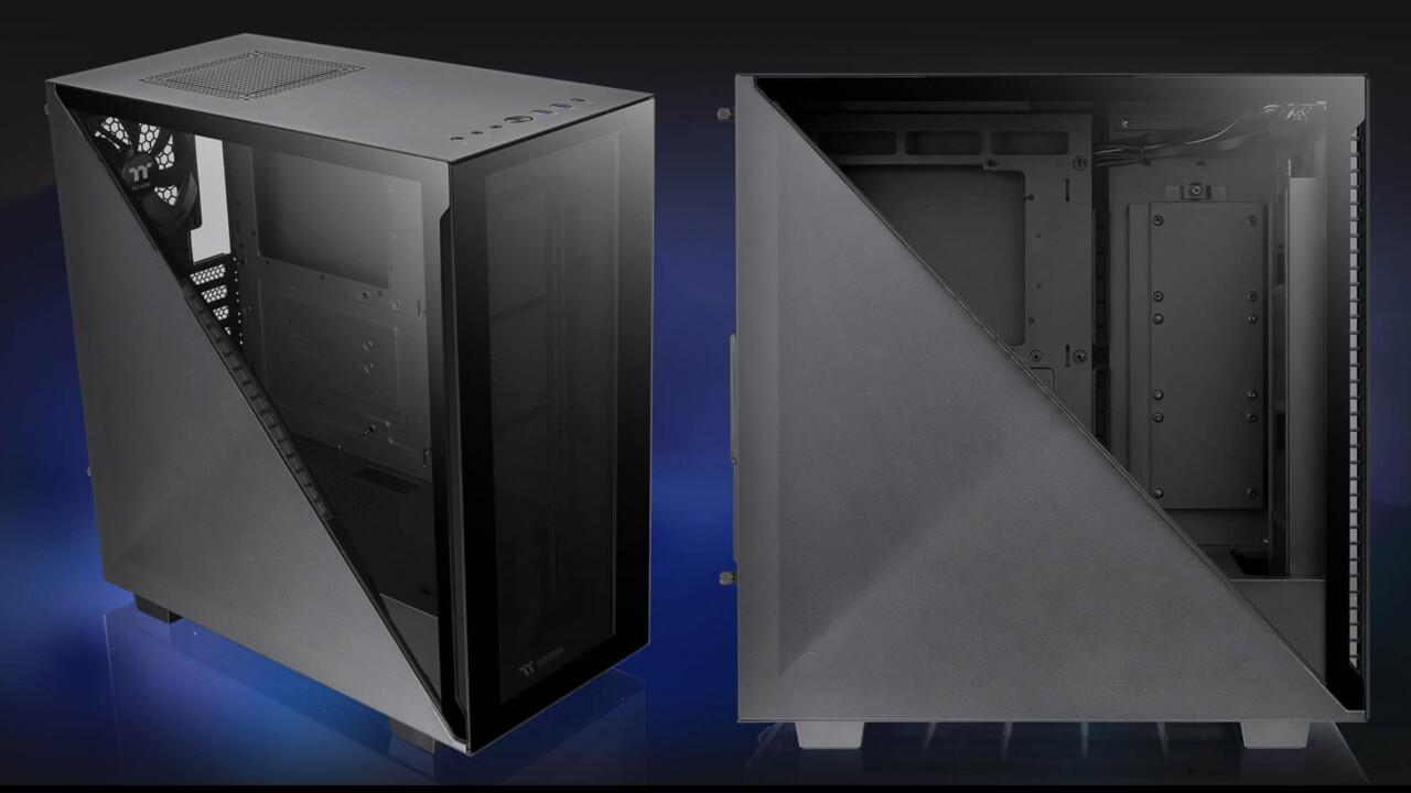 Thermaltake Divider 300: Midi-Tower teilt Seitenteil mit Dreiecksfenster