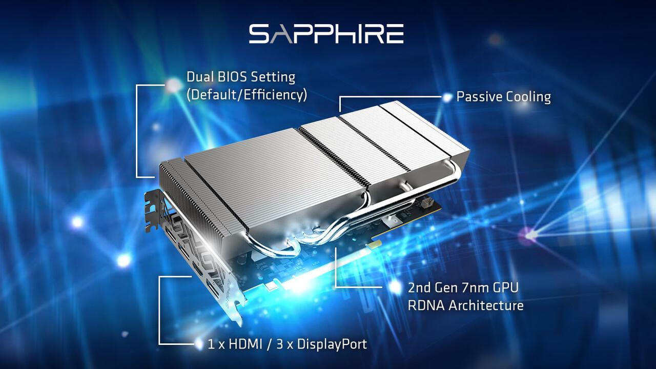 Sapphire GPRO X070: Passive Radeon RX 5700 XT für professionelle Anwender
