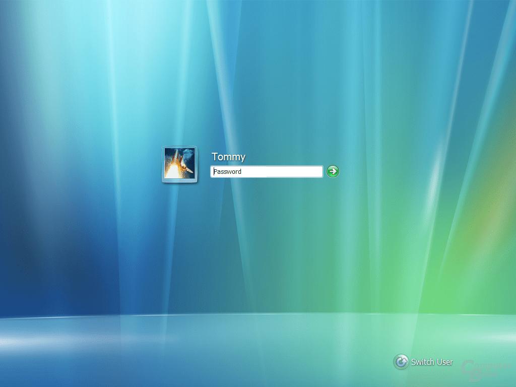 Anmeldung in Windows Vista